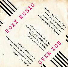 "ROXY MUSIC - OVER YOU  + MANIFESTO SINGLE 7"" SPAIN 1980"