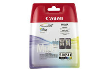 Canon MultiPack 2 Cartucce Originali PG-510/CL-511 Nero e Colori Stampanti PIXMA