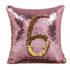 "16"" Mermaid Pillow Cover Cushion Case Reversible Sequin Magic Swipe Sofa Decor"