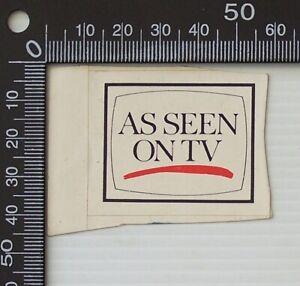 VINTAGE AS SEEN ON TV AUSTRALIA RETAIL ADVERTISING PROMO STICKER