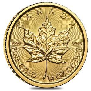 2021 1/4 oz Canadian Gold Maple Leaf $10 Coin .9999 Fine BU (Sealed)