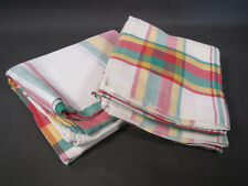 Lot 7 Tea Towels or Table Napkins and Tablecloth Vintage Fabric New Kitchen