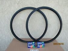 [2] 27'' x 1-1/4 ALL BLACK BICYCLE TIRES & [2] TUBES FOR YOUR ROAD BICYCLE.