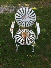 Vintage Antique Spring Metal Armchair Chair Metal