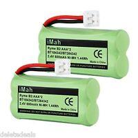 2 Pack Replacement Rechargeable Battery BT18433 BT28433 for VTech ATT Phones