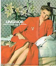 PUBLICITE ADVERTISING 075  1977  LINGELOR   lingerie de nuit peignoir robes déte