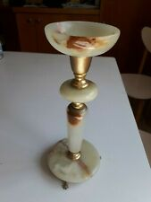 Vintage French ALABASTER Electric Lamp on Three Lion Legs