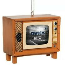 Dallas Cowboys Christmas Tree Holiday Ornament Logo Nostalgia Retro TV NWT