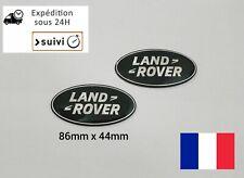 2X Logo Vert Argent Land Rover Badge Emblème Avant Arrière 86 mm X 44mm