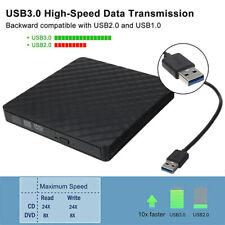 1x Lettore Masterizzatore CD RW DVD Esterno USB 3.0 Bruciatore per PC Laptop