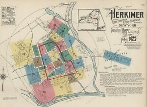 Herkimer, New York~Sanborn Map©~sheets~27 maps in full color~1923