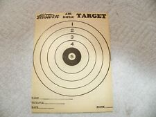 Vintage Western Air Rifle Paper Targets Rodent Target On Back - 2 Count
