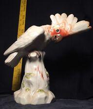 Meissen Cockatoo Bird on Stump Porcelain Art Deco