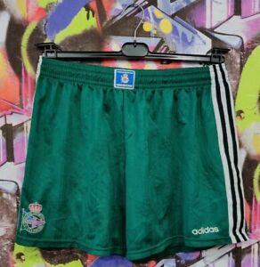 Vintage Real Club Deportivo de La Coruna Soccer Shorts Adidas 90s Mens size XL