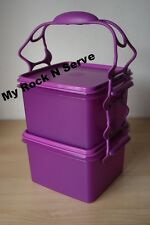 TUPPERWARE Square Keeper Goody Box Color 8 cup ea.Purlicious  New