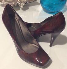 Jessica Simpson Burgundy Platform Pumps Heels Size Patent Leather Heron Size 7M