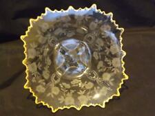 Cambridge Blossom Time Martha Etched Crystal Bowl