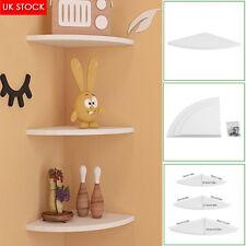 Wall Mounted 3 Tiers Decorative Shelf Floating Corner Storage Organizer Shelves