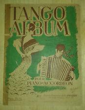 Tango album. Pour Piano et Accordéon. Volume 2. Garzon.