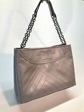 Tory Burch Chevron Quilt Slouchy Leather Tote Woman handbag