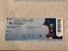 Used ticket WM campeonato 2018 # 36 españa marruecos Spain Morocco
