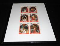 1989 NBA Hoops Framed Uncut Card Sheet Karl Malone Kevin McHale Olajuwon