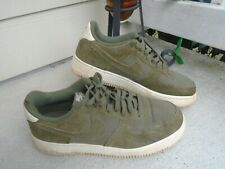 Nike Air Force 1 Low Suede Medium Olive Green AO3835-200 Size 10 RARE
