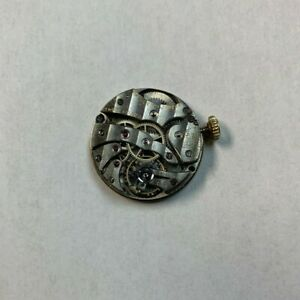 E. Huguenin Watch 15 Jewel Movement Broken Balance 14k Crown MARCUS & Co Dial