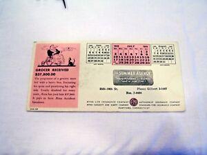 Blotter advertising Aetna Accident Insurance, c. 1949 ephemera
