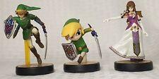 Nintendo Super Smash Bros Legend of Zelda amiibo Figure Lot of 3