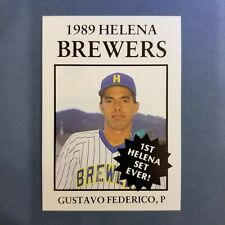 1989 Sports Pro HELENA Brewers #14 GUSTAVO FEDERICO Sonora MEXICO Baseball Card