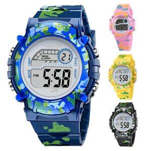 Children Digital Kids Watch Boys Girls Luminous Light Alarm Date Ideal For Gift