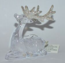 BATH & BODY WORKS CRYSTAL DEER REINDEER MAGNET LARGE 3 WICK CANDLE DECOR TOPPER