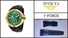 Black Silicone Rubber Watch Band Strap For Invicta I-FORCE