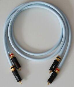 Supra Cables EFF ISL Cinchkabel mit PPSL  Steckern verspannbar Audiokabel 0,75m