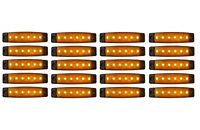 20 x 6 LED Begrenzungsleuchte 24 V Positionsleuchte Gelb LKW Umrissleuchte