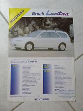 Hyundai Lantra break 1997 - catalogue dépliant brochure prospekt catalog