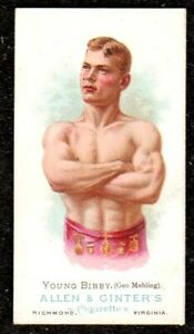 1888 ALLEN & GINTER THE WORLDS CHAMPIONS WRESTLER YOUNG BIBBY CIGARETTE CARD EXC