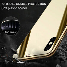 For iPhone 11 Pro Max XR X 7 8 Plus Luxury Tempered Glass Mirror Hard Case Cover