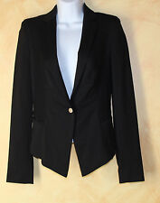 Escada Sport~very recent~elegant Textural Black Blazer Tuxedo Jacket Sz 34