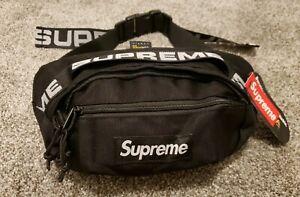 Authentic Supreme SS18 Waist Bag Fanny Pack Belt Bag Black New