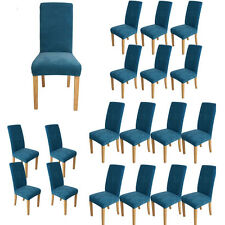 Super Fit Stretch Dining Chair Covers Slipcover Seat Protector Removable Blue UK