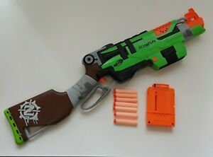 Nerf Slingfire shotgun with 6 round magazine includes bullets - TESTED & WORKING