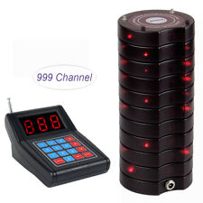 Restaurant Wireless Equipment Paging Queuing System Transmitter+10XCoaster Pager
