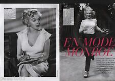 Coupure de presse Clipping 2012 Marilyn Monroe (4 pages)