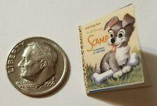 Miniature Book Disney Movie Barbie 1/12 Scale Scamp  Dogs Puppies