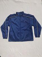 Vintage 90's NIKE Blue Full Zip White Stripe Windbreaker Jacket Bootleg?!