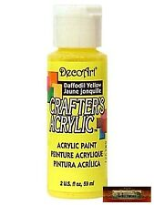 M01433 MOREZMORE DecoArt DAFFODIL YELLOW Crafter's Acrylic All Purpose Paint IZB