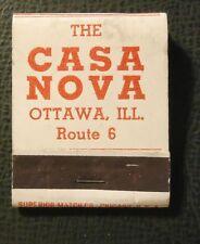 Matchbook - The Casa Nova Ottawa IL FULL