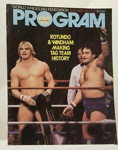 WWF World Wrestling Federation Program #122 (1985) Rotundo & Windham Tag Team